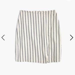 Wrap Mini Skirt in Stripe